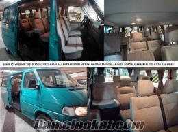 Şöförlü 9+1 Volkswagen Transporter Minibüs (klimalı)