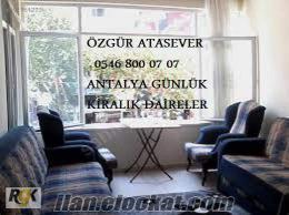 Antalyada ünlük Kiralık Daire, Günlük Kiralık Ev Hemen Bizi Arayın
