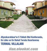 afyonda günlük / haftalık kiralık termal villalar