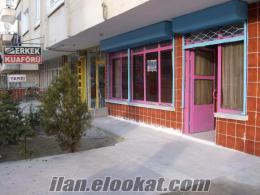 işlek caddede kiralık dükkan