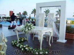antalyada düğün süslemeler