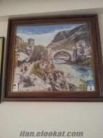 tarihi mostar köprüsü goblen tablo