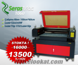 SerasMac Lazer Kesim ve Kazima makinesi 100x60cm