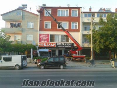 İstanbul Eyüp kiralik sepetli vinç
