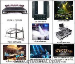 2.EL ANFİ, SES SİSTEMİ, MİKROFON, HİFİ, HOPARLÖR LCD TV ALANLAR