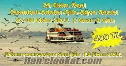 ANKARADAN 29 EKİM İSTANBUL ADALAR ŞİLE AĞVA GEZİSİ