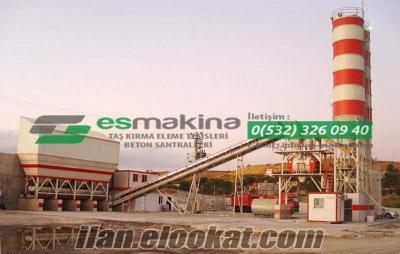 satılık 100 m3 sabit beton santralı