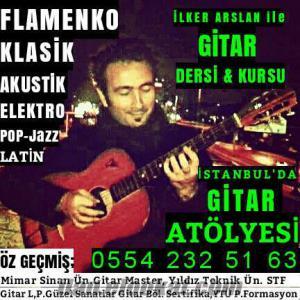 GİTAR DERSİ İSTANBUL/Gitar Öğretmenimiz Mimar Sinan Ün. Gitar Master, YTÜ Gitar