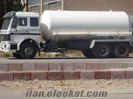 Kamyonetle birlikte 10 tonluk oksijen tankı