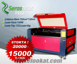 SerasMac Lazer Kesim ve Kazima makinesi 150x120cm