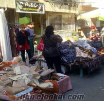 izmirde devren satılık pazar yeri içinde perde kumaş deposu