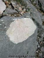 Ciddi blok rezervi olan bej mermer sahası