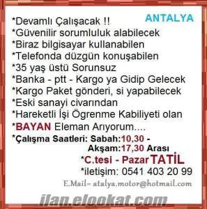 Antalya bayan eleman