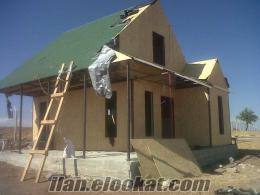 prefabrık çelik konstriksiyon ev villa