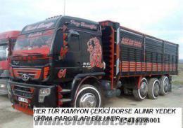 her ilden parçalanacak yeni kamyon çekici kamyonetleriniz alınır