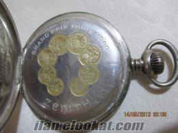 Gümüş Kasa Zenith Cep Saati