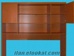 Kitaplık - Bazalı Yatak Üstü Kullanılır - Sıfırdan Farksız
