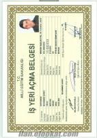 sahibinden kiralık aşçılık için ustalık ve işyeri açma belgesi kiralanır