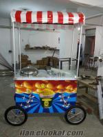 bisiklet tekerlekli bardakta mısır arabası