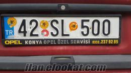 SATILIK ÖZEL PLAKA 42 SL 500
