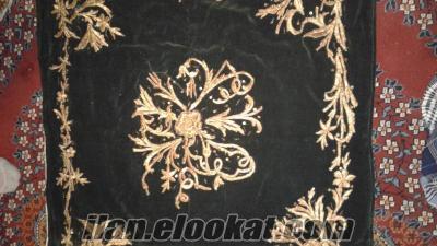 Sahibinden 100 yıla yakın altın sırma rengi işlemeli antika örtü