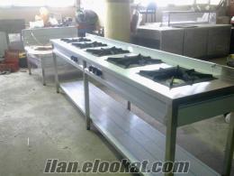 lüleburgaz endüstriyel mutfak paslanmaz pişirme fırın ocak kuzine sulu yemeklik