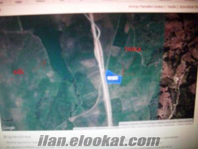 Söğüt te Bozüyük asfaltına cephe 8 dönüm arazi