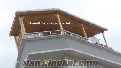 ahşap teras çatı ahşap çatı ustası