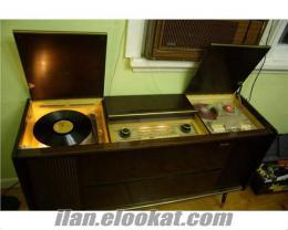 radyo müzik dolabı dual pikap console tamiri