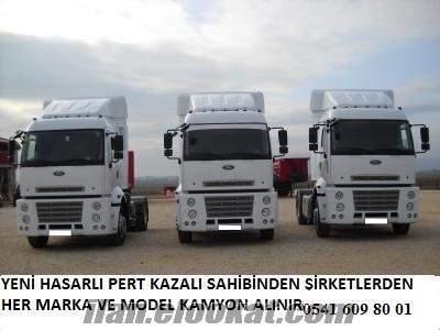 şirketlerden filo halinde hacizli kamyon çekici alınır