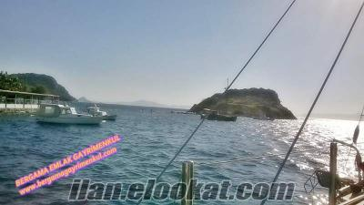 İzmir dikili çandarlı bimeyko da satılık deniz manzaralı konut imarlı arsa 401 m