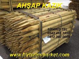 AHŞAP-KAZIK, ağaç bağlama kazığı ağaç destek kazığı, ahşap direk