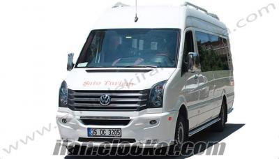 LÜX Minibüsler- Yurt dışı çıkış belgeli - Ücretsiz Şoför hizmeti