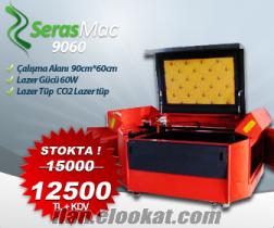 SerasMac Lazer Kesim ve Kazima makinesi 90x60cm