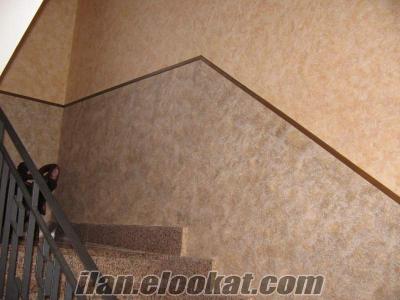 İtalyan Dekoratif Duvar Boyaları sedef boya Alçıpan asma tavan, Taşyünü asma t