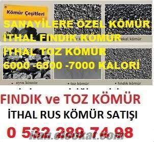 ithal toz kömür 5500 6000 KALORİ Ankara Adana TOPTAN SATIŞI