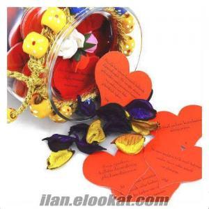 TOPTAN Sevgiliye Hediye 365 Mesajlı Aşk Kavanozu YILLIK