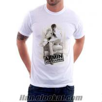 Emprime Baskılı Erkek T shirt Likralı - Karde
