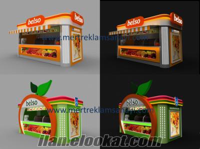 Street Food Kiosk , Food Kiosk, Waffle Kiosk, Ice Cream Kiosk