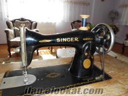 antika singer ayaklı dikiş makinesi