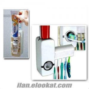 TOPTAN Diş Macunu Sıkacağı Ve Diş Fırçalık Set