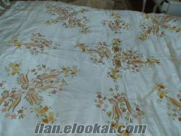 elişi yatak örtüsü osmanlı tarzı 40 yıllık