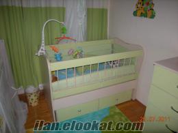 Izmirden satılık temiz besik (içinde ortopedik yatağı dahil) ve sifonyer