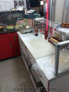 İstanbul Maltepede temiz 2. el çiğ köfte dolap ve masa sandalyesi
