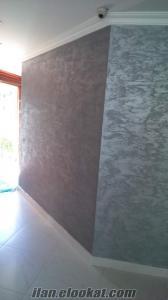 Dekoratif duvar boyaları. efekt boya italyan alçıpan asma ALÇIPAN ASMA TAVAN