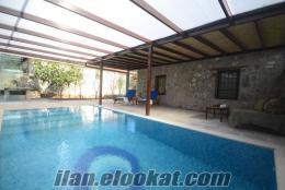 Bodrumda ilk ısıtmalı özel havuzlu kiralık villa