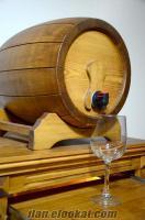 Standlı Ahşap Şarap Fıçısı