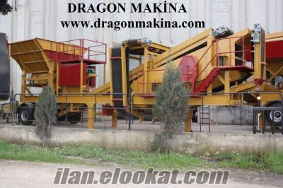 mobil konkasör, seyyar elekler dragon makina