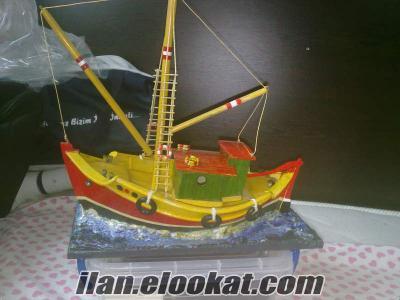 El yapımı satılık tekne maket