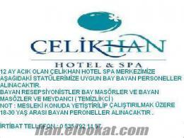 12 AY ACIK HOTEL SPA MERKEZİMİZE BAY BAYAN PERSONELLER ALINACAKTIR